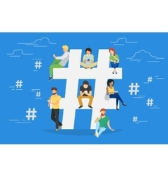 Hashtag concept vector