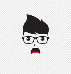 Hipster nerd vector