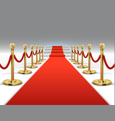 Hollywood luxury and elegant red carpet with vector
