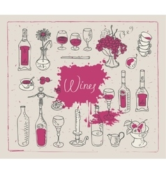 Images on the theme of wine vector