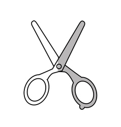 Isolated scissor design vector image