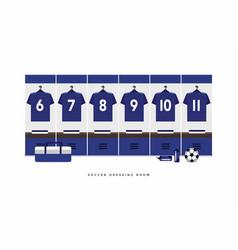 japan football or soccer team dressing room vector image