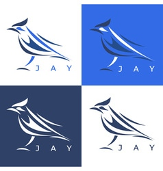 Jay Design Template Set vector image