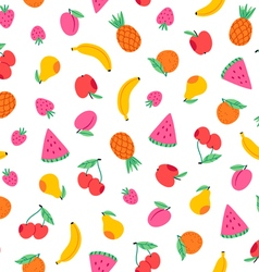 Juicy fruits pattern vector