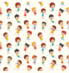 Kids seamless pattern vector