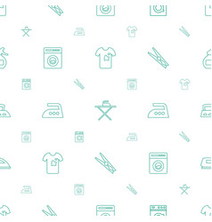 laundry icons pattern seamless white background vector image