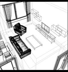 layout apartment vector image