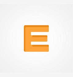 letter e bold geometric font element modern vector image