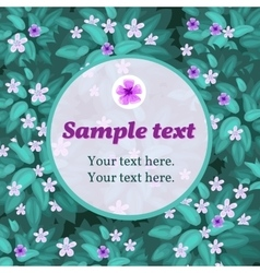 Lilac flower card with frame for text vector image
