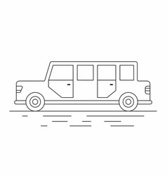 Limousine car line icon vector