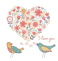 Love concept card vector