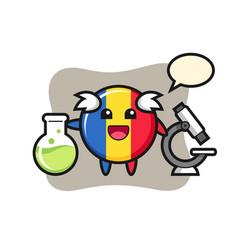 Mascot character romania flag badge as a vector
