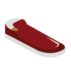 men elegant shoe icon vector image