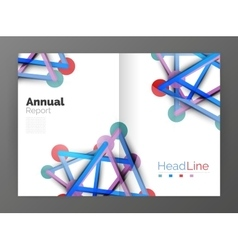 Molecule annual report vector image