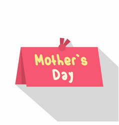 Mother day greeting card icon flat style vector