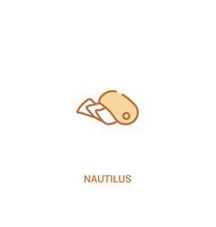 Nautilus concept 2 colored icon simple line vector