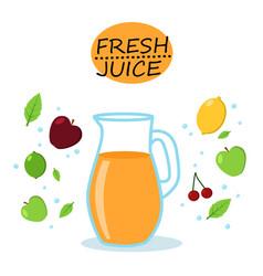 orange multivitamin juice isolated icons vector image