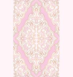 oriental pink pattern vector image