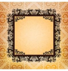 Ornamented frame vector