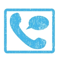 Phone Message Icon Rubber Stamp vector