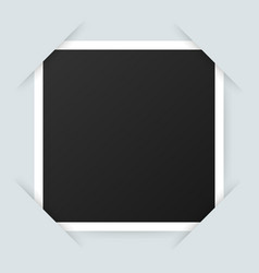 photo frame mockup design realistic photograph vector image