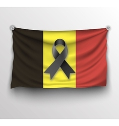 Pray for Brussels flag vector