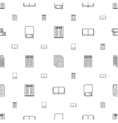 Publication icons pattern seamless white vector