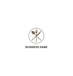 restaurant food fork spoon knife logo vector image