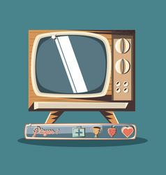 retro videogame design vector image