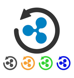 Ripple chargeback icon vector