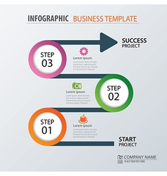 Road business timeline infographic templat vector