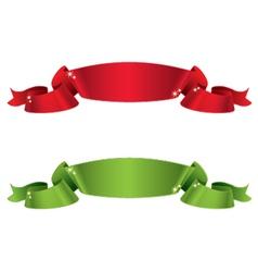 Satin ribbons vector