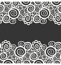 Seamless abstract curly wave pattern vector image