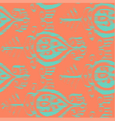 Seamless ikat ice cream pattern vector