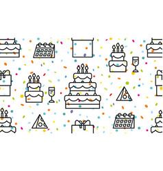 Seamless pattern with happy birthday vector
