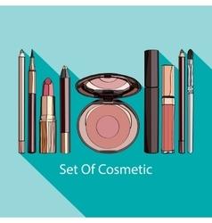 set of decorative cosmetics vector image