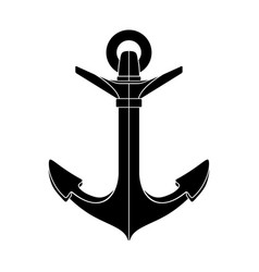 silhouette graphic anchor vector image