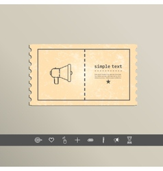 Simple stylish pixel speaker icon design vector