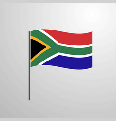 south africa waving flag vector image