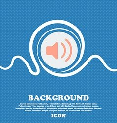 Speaker volume Sound sign icon Blue and white vector image