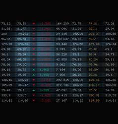 stock exchange board market index charts graphs vector image
