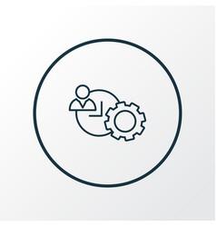 time management icon line symbol premium quality vector image