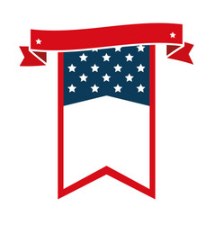 united states america ribbon frame vector image