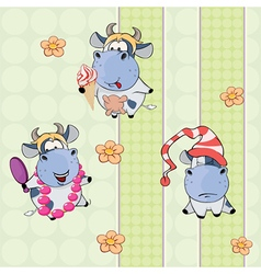 various cows vector image