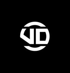 vd logo monogram isolated on circle element vector image