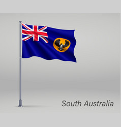 Waving flag south australia - state of vector