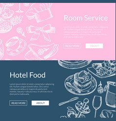 web banner templates restaurant or room vector image