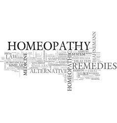 What is homeopathy text word cloud concept vector