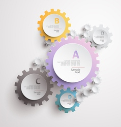 White and color gears vector image