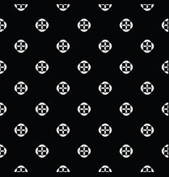 white on black polka dot seamless pattern vector image